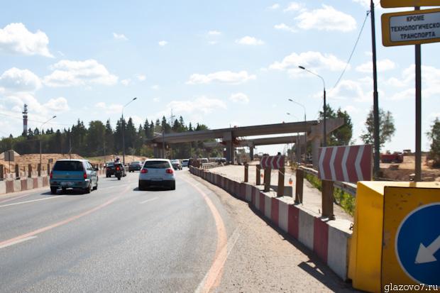 Мост через ленинградку, по которой будет проходить скоростная трасса М11