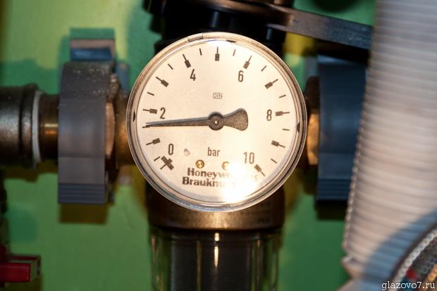 давление воды в системе