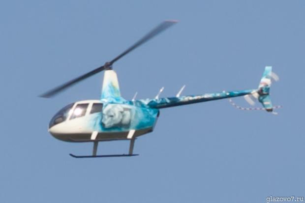 вертолёт с собакой на борту